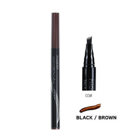 2Pcs Patented Microblading Tattoo Eyebrow Ink Pen Eye Brow Makeup Pencil SR50
