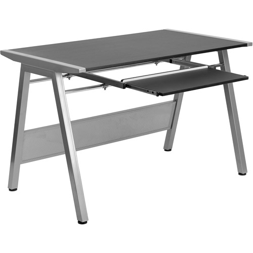 Flash Furniture Computer Desk with Pull-Out Keyboard, Black