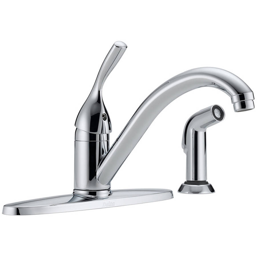 Delta 400-DST Classic Kitchen Faucet with Side Spray and Diamond Seal Technology, Chrome
