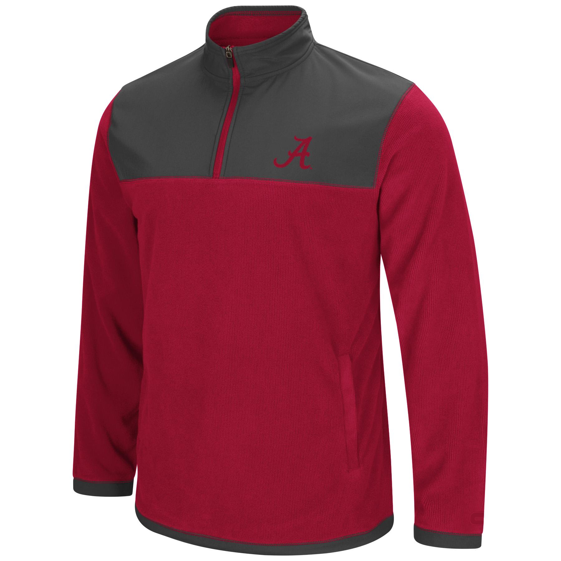 "Alabama Crimson Tide NCAA ""Blocker"" Men's 1 4 Zip Corduroy Fleece Jacket by Colosseum"