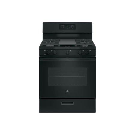 GE JGBS66DEKBB - Range - freestanding - width: 30 in - depth: 28.7 in - height: 46.3 in - black
