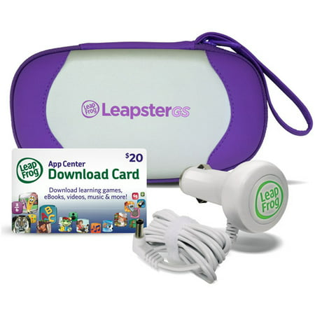 LeapFrog LeapsterGS Explorer Travel & Play Accessories Bundle, Purple (Leapfrog Laptop Purple)