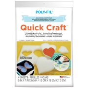 "Quickcraft Craft Foam, 5"" x 7"", 4pk"