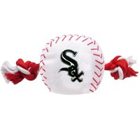 Pets First MLB Chicago White Sox Nylon Baseball Rope Tug Toy, MLB Licensed, Heavy Duty and Durable Toy