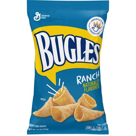 Corn Snacks (Bugles Ranch Flavor Crispy Corn Snacks, 7.5 oz Bag)