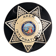 AKER LEATHER 592 Clip-On Star Badge Holder A592-TP