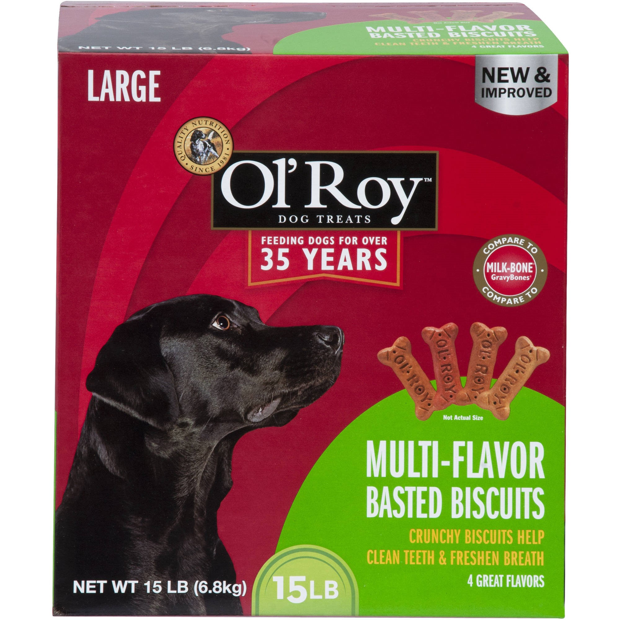 Ol' Roy Multi-Flavor Basted Biscuits, Large Breed, 15 lb