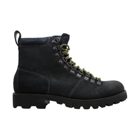 Calvin Klein Jeans Mens rick Leather Round Toe Ankle Fashion, Black, Size 9.0