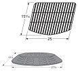 Uniflame GBC820W Grill Heat Plate and Cooking Grid Set Replacement