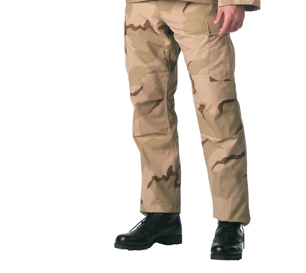 Tri-Color Desert BDU Pants, Military Fatigues by Rothco
