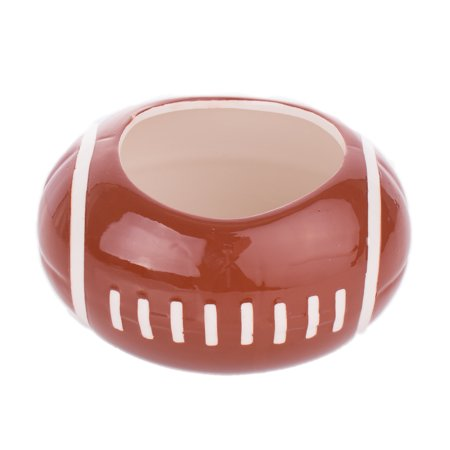 Football Ceramic Planter Decor or Party Dip 3.75