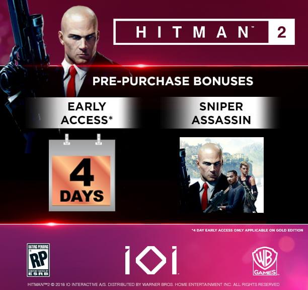Hitman 2 Gold Edition Warner Bros Xbox One 883929649488