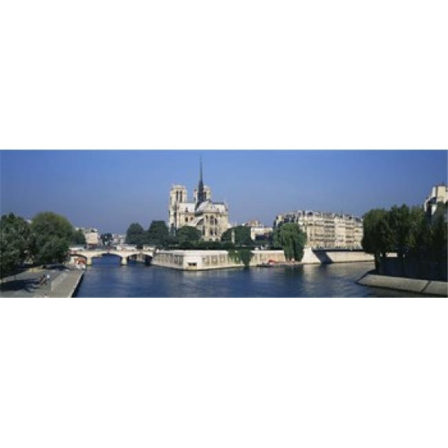 Panoramic Images PPI62881L Cathedral along a river  Notre Dame Cathedral  Seine River  Paris  France Poster Print by Panoramic Images - 36 x 12 - image 1 of 1