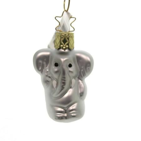 Inge Glas GENTLE GIANT ORNAMENT Glass Elephant Africa Christmas 10087S018 ()