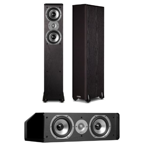 Polk Audio TSi300 FloorStanding Speakers (Pair) Plus A Polk Audio CS10 Center Channel Speaker by Polk Audio