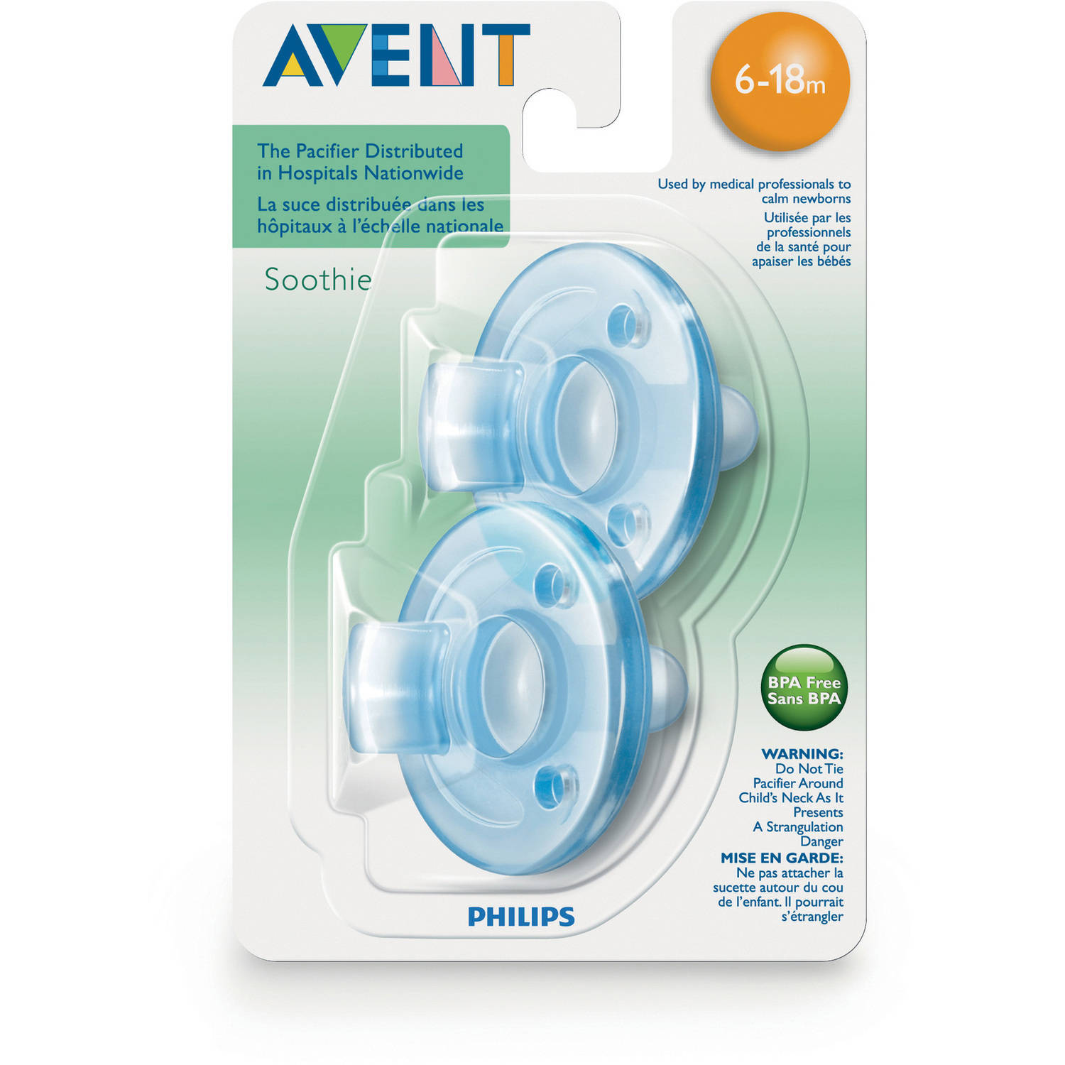 Philips Avent Soothie Pacifiers, SCF192/04, 2 count