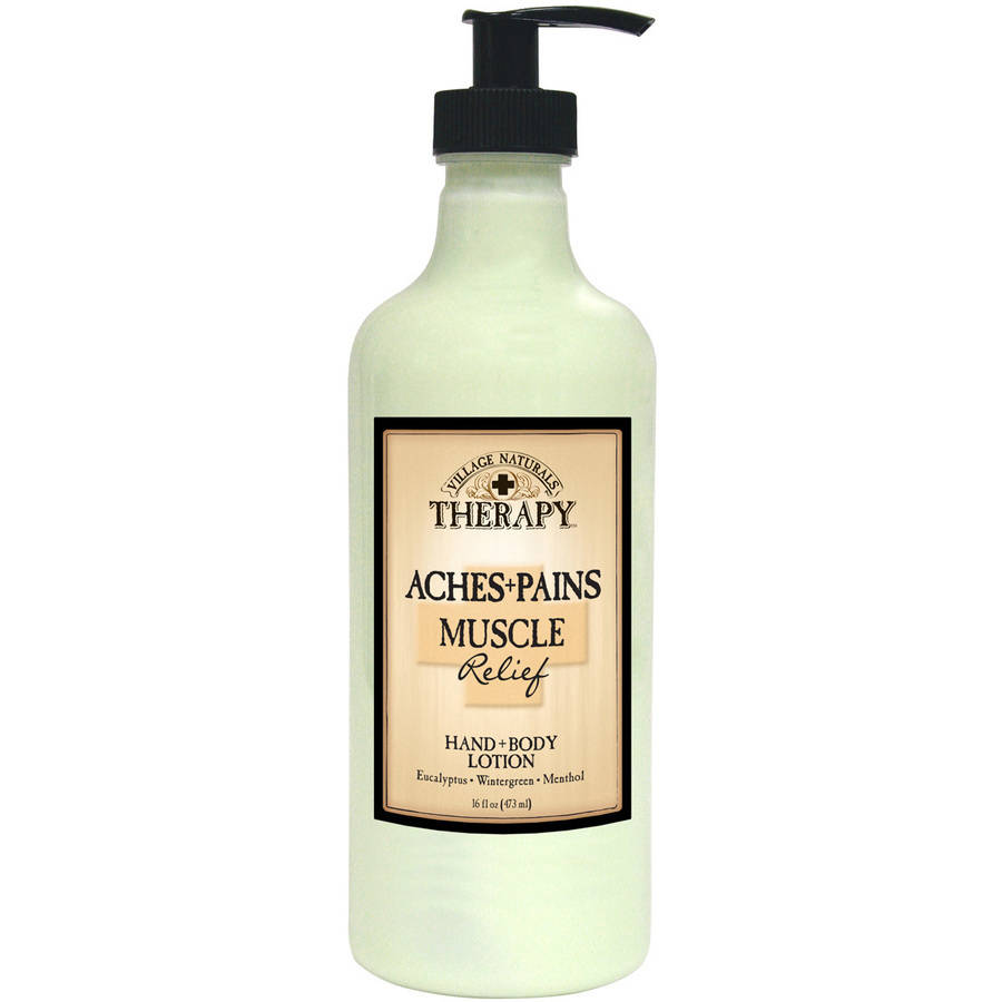 Village Naturals Therapy, Aches & Pains Muscle Relief Lotion, 16 Oz