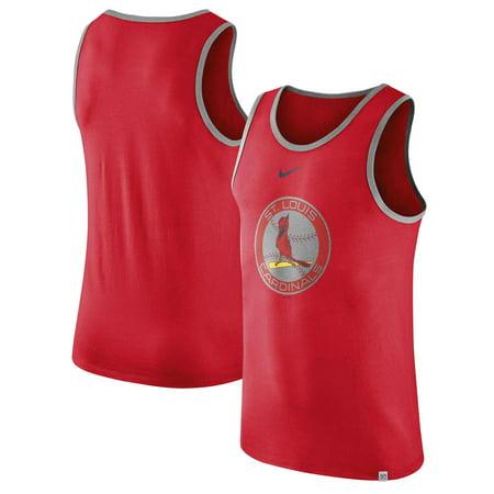 St. Louis Cardinals Nike Throwback Logo Wordmark Tank Top - Red