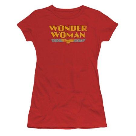 DC Comics  Wonder Woman Logo Girls Jr Red](Dc Comic Girls)