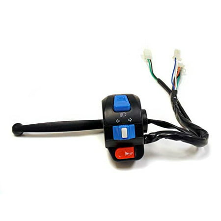 Suburban Turn Signal Lever Switch - Complete Assembly Left Side Control Switch (High Low Beam, Turn Signals, Horn) with Brake Switch and Lever for Tao Tao ATM 50 / GY6 50cc Scooters