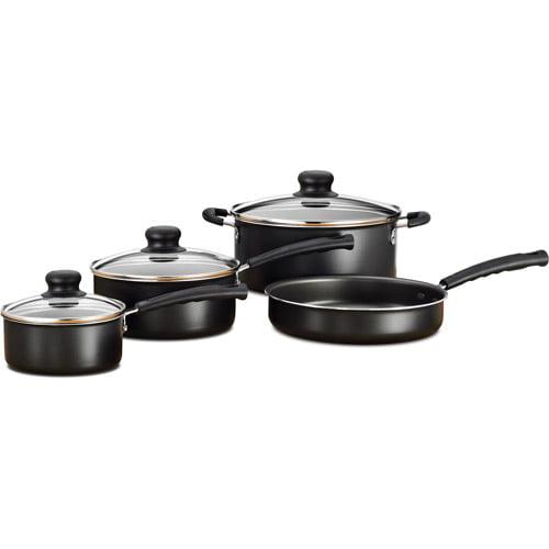 Walmart Housewares: Mainstays 7-Piece Cookware Set, Black