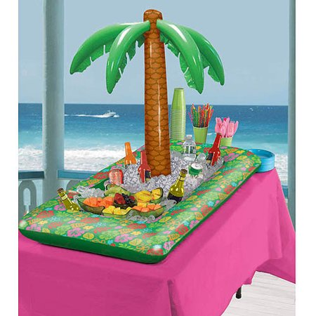 Amscan Inflatable Palm Tree Buffet Party Cooler - Palm Tree Decorations For Party