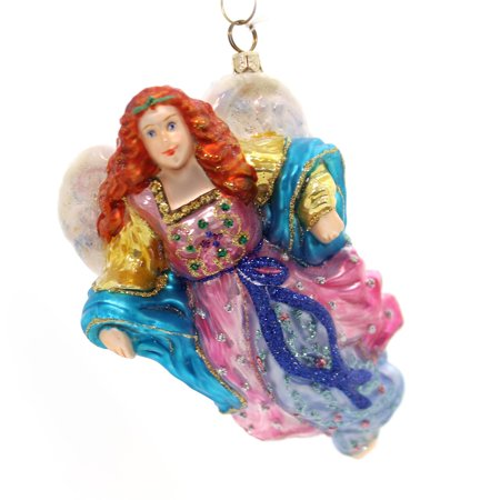 Holiday Ornaments HEAVENLY BLESSINGS Glass Ornament Angel Religious (Heavenly Angel Ornament)