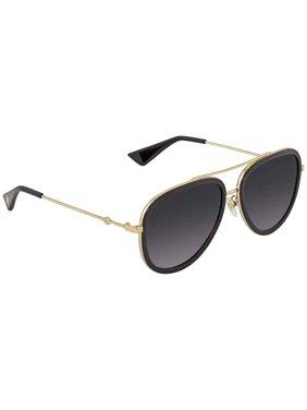 Gucci Grey Gradient Aviator Ladies Sunglasses GG0062S 007 57