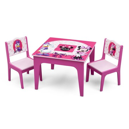 Delta Children Disney Minnie Mouse Deluxe Kids Storage Play Table and Chairs Set](Minnie Mouse Table And Chair Set)