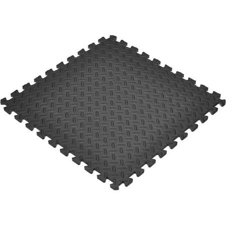 Norsk Sq Ft Interlocking Foam Floor Mat Pack Black Walmartcom - Black and white interlocking floor mats
