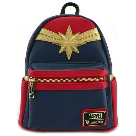 Loungefly Captain Marvel Comics Emblem Cosplay Mini Fashion Backpack Purse