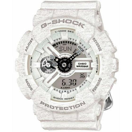 8a6c62be51967 Casio - Women s G-Shock Digital Analog White Watch GMAS110HT-7A -  Walmart.com