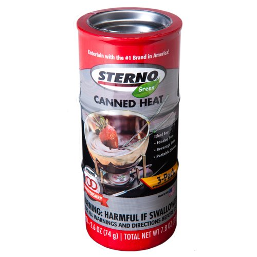 Sterno 2.6 oz Entertainment Cooking Fuel Cans, 3-Pack