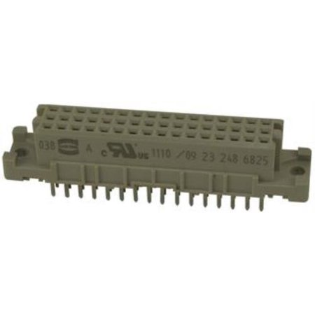 Din Receptacle (5X Harting 09 23 248 6825 Din 41612 Pcb Connector Receptacle 48Way )