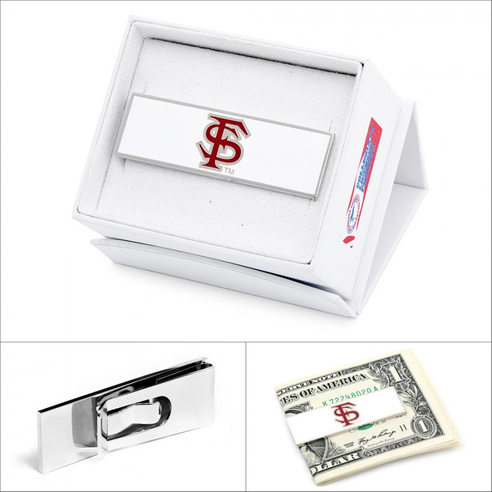 NCAA Mens Plated Florida State Seminoles Money Clip PD-FLS-MC NEW