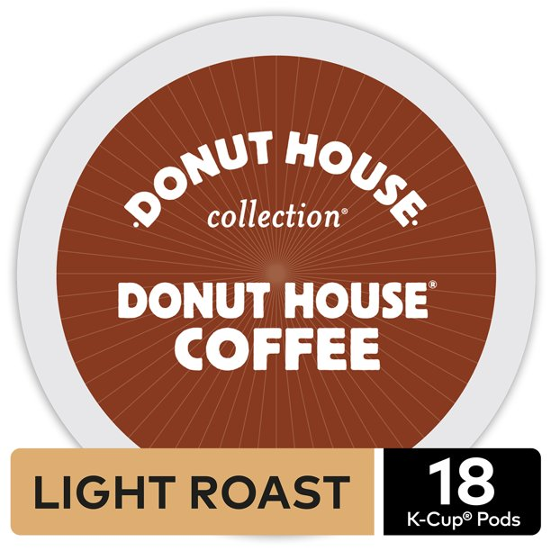 Donut House Collection Donut House K-Cup Coffee Pods, Light Roast, 18 Count For Keurig Brewers