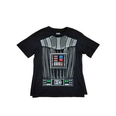 Darth Vader Star Wars Mens Black Caped Tee Costume T-Shirt Darth Vader Costume T-shirt