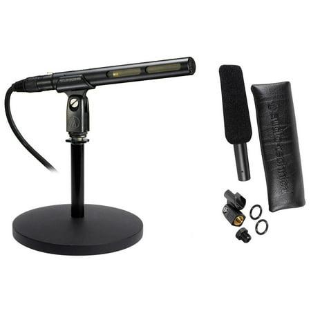 - Audio Technica AT875R Short Shotgun Condenser Microphone w/ Line+Mic Stand