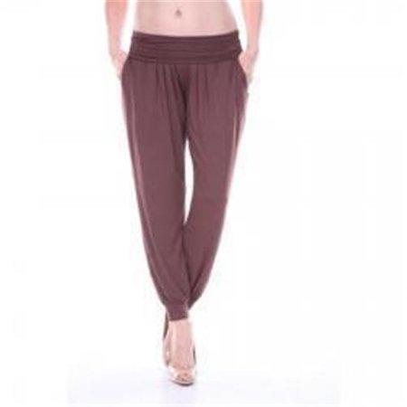 White Mark Harem Pants, Chocolate - Large - image 1 de 1