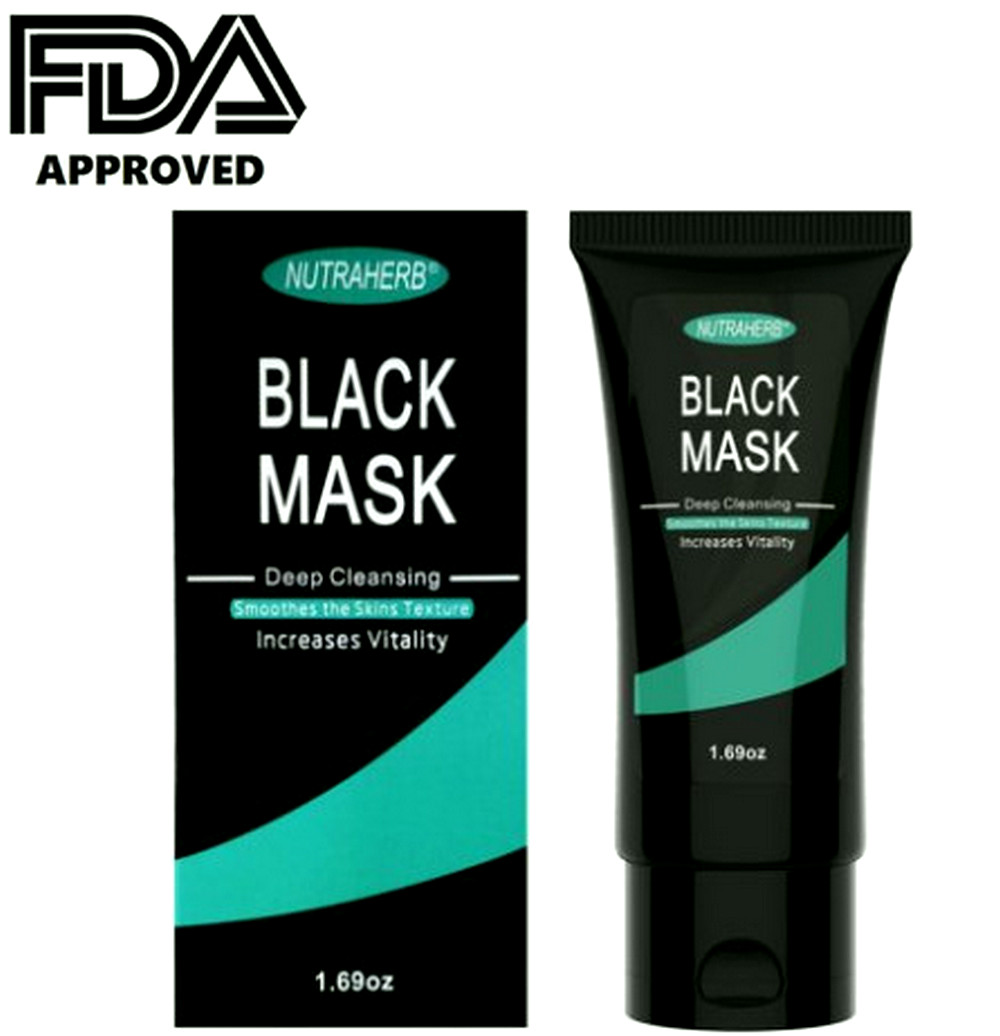 Blackhead Remover Mask Charcoal Peel-Off Mask Purifying Deep Cleansing Removes Blackheads, Cleans Pores, Absorbs Excess Oil, By NutraHerb USA an FDA Registered Manufacturer