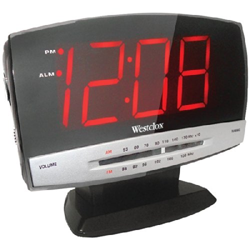 Westclox Tech Large Display Clock Radio
