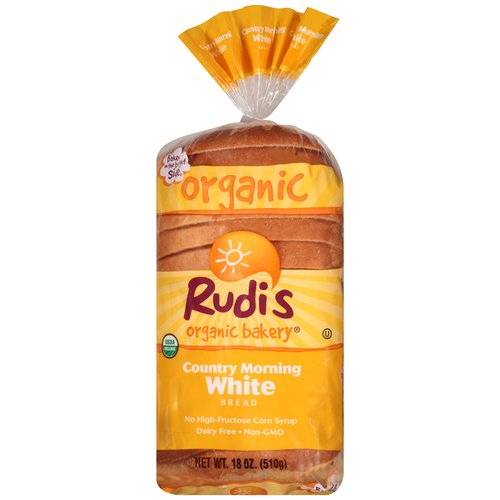 Rudi's Organic Bakery Country Morning White Bread, 18 oz