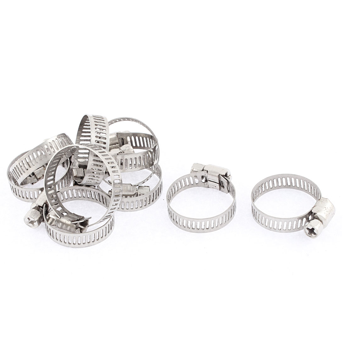 30 Pieces 16-25mm Hose Clamp Worm Gear Hose Pipe Fitting Clamp