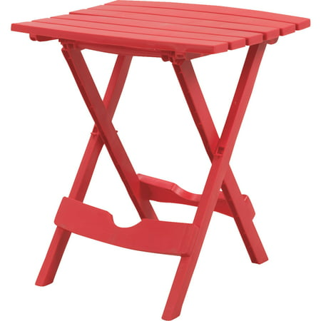 Adams Manufacturing Quik-Fold Side Table, Cherry Red