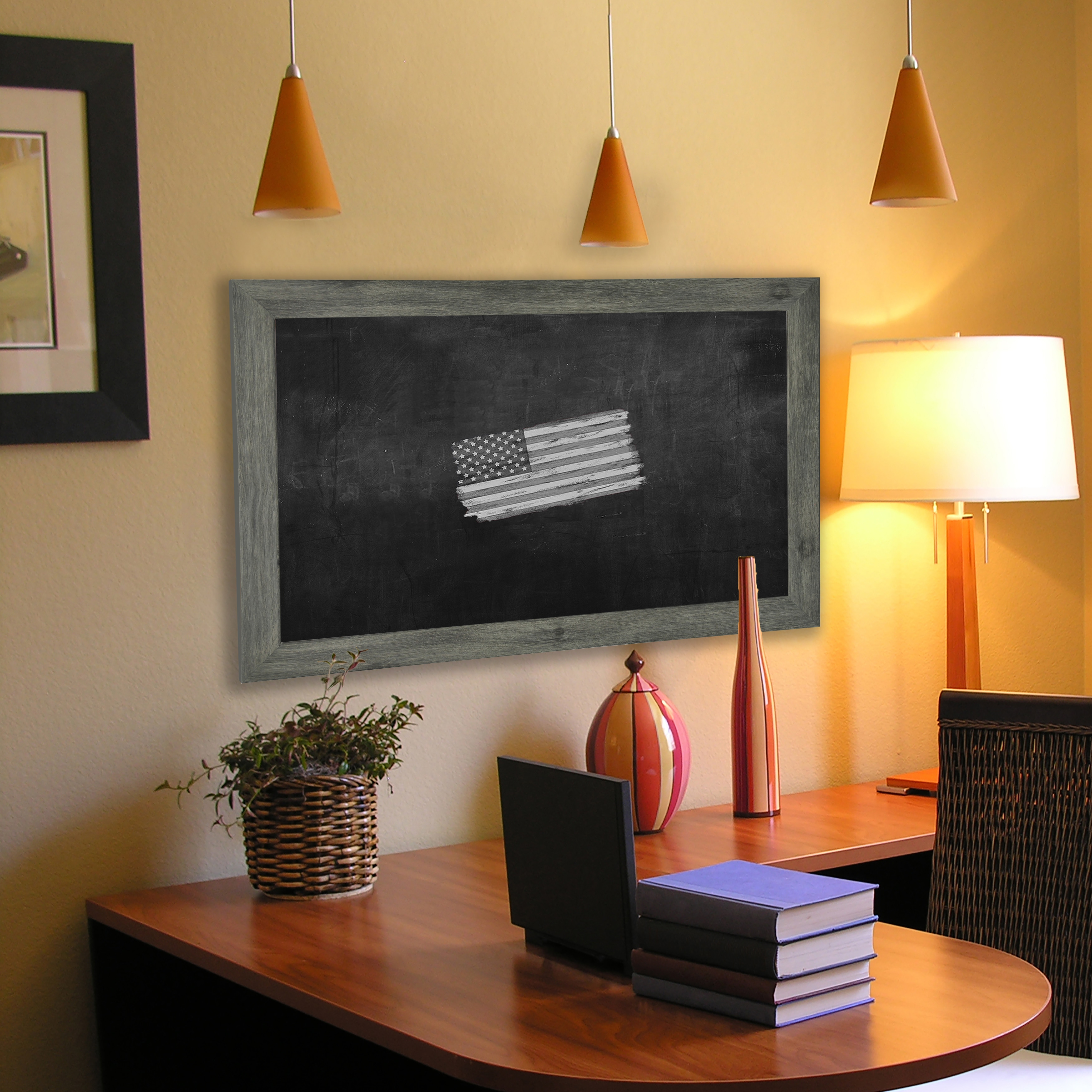 Rayne Mirrors American Made Rayne Grey Blackboard/ Chalkboard