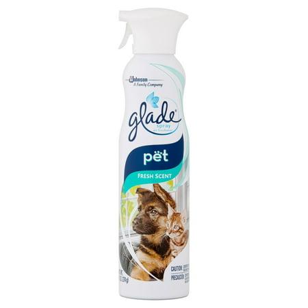 Glade Premium Room Spray Air Freshener, Pet Fresh Scent, 9.7