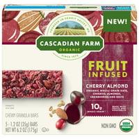 Cascadian Farm Cherry Almond Fruit-Infused Chewy Granola Bars 5 ? 6.2oz Carton
