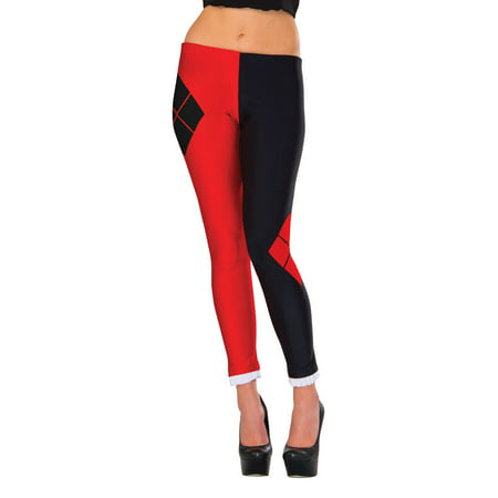 Adult's Womens DC Comics Super Villain Harley Quinn Leggings Costume Accessory
