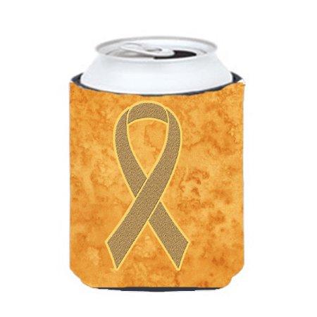 Peach Ribbon For Uterine Cancer Awareness Can Or Bottle Hugger