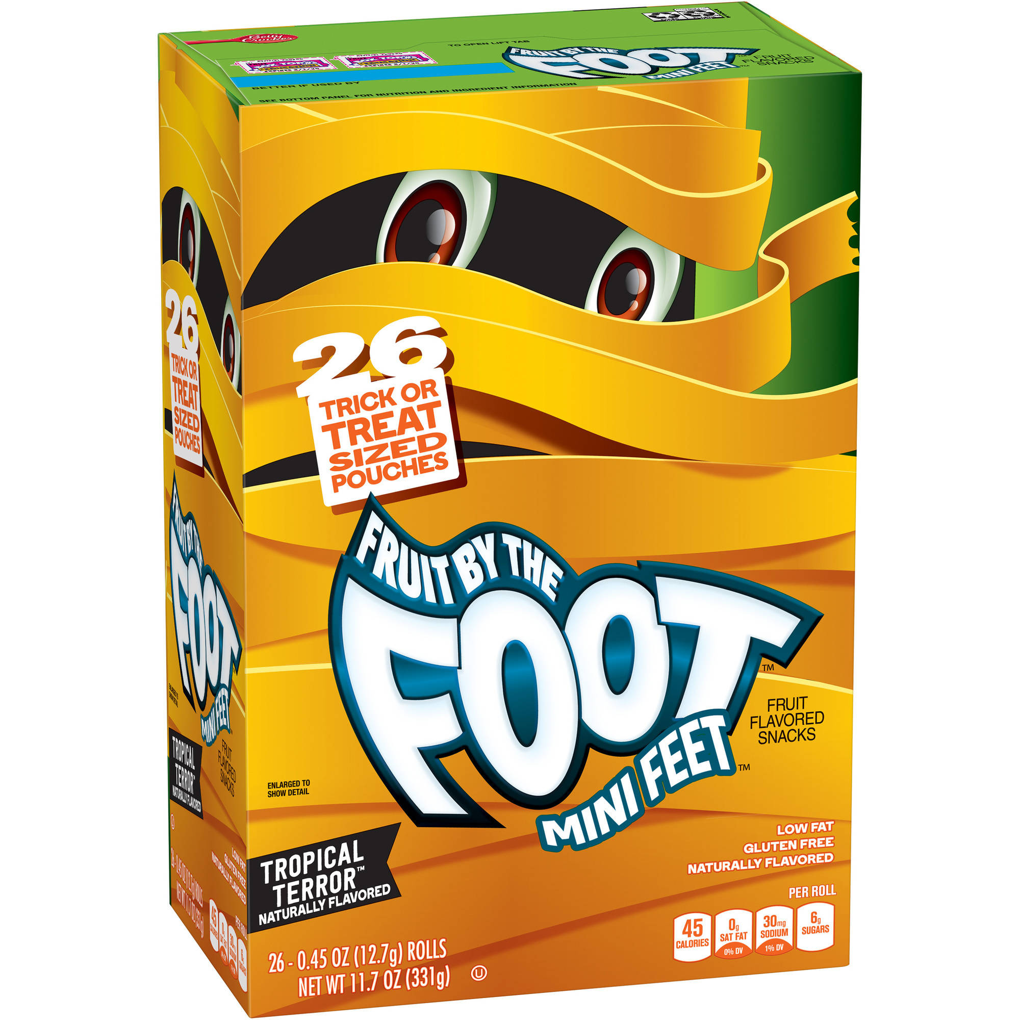 Betty Crocker��� Fruit by the Foot��� Mini Feet��� Tropical Terror��� Fruit Flavored Snacks 26-0.45 oz. Pouches